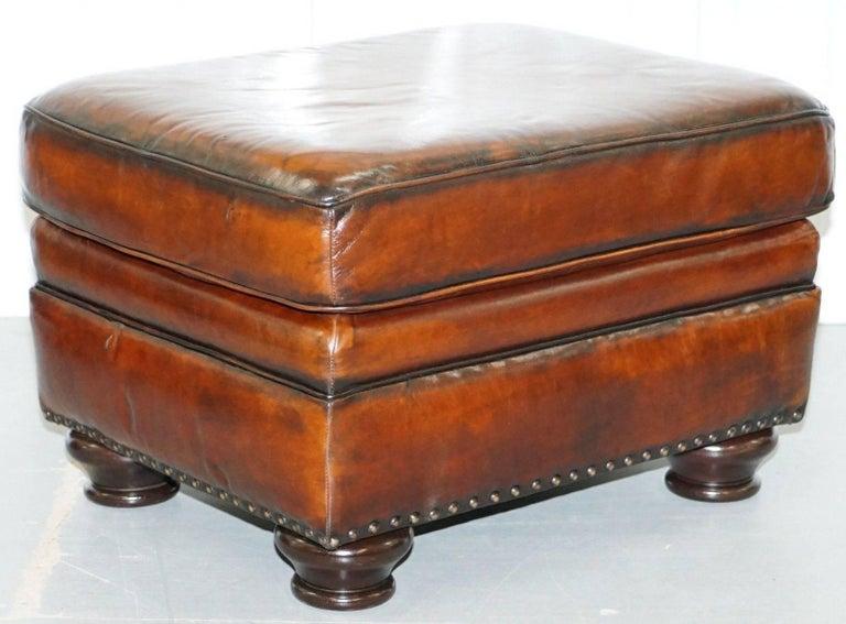 Stunning Restored Bernhardt Thick Brown Leather Armchair ...