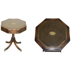 Stunning Revolving Military Campaign Regency Style Drum Side End Lamp Wine Table