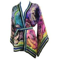 Stunning Roberto Cavalli Silk Wrap Top (42 ITL)