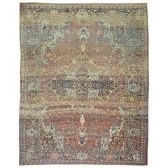 Stunning Room Size Traditional Rust Abrash Antique Persian Sarouk Ferehan Rug