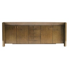 Stunning Saporiti Sideboard in Bird's-Eye Maple by Giovanni Offredi