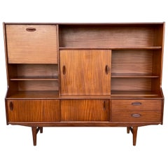 Stunning Scandinavian Modern Teak High Credenza/ Server/Bar