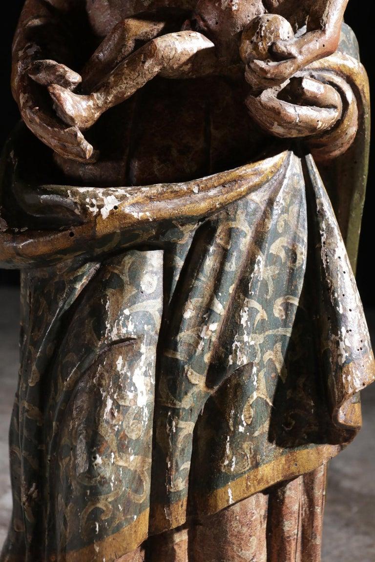Spanish Stunning Sculpture Wood