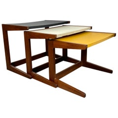 Stunning Set 3 Nesting Tables in the Mannor of Jens Risom