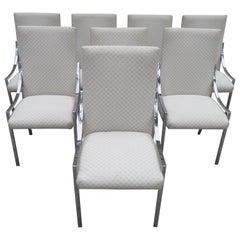 Stunning Set 8 Milo Baughman D.I.A. Dining Chairs Mid-Century Modern