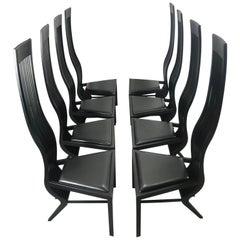 Stunning Set 8 Modernist Dining Chairs, by Arata Isozaki, Tendo Mekko Co. Ltd