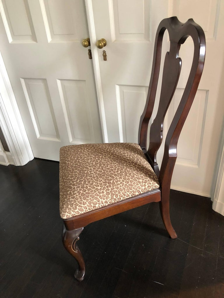 Beautiful Set Of Ten Drexel Heritage Armless Dining Room Chairs In The Queen Anne Style