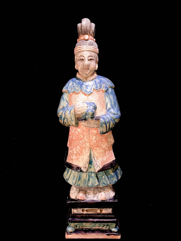 Stunning Set of 3 Elegant Court Attendants - Ming Dynasty, China 1368-1644 AD TL For Sale 4
