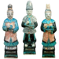 Stunning Set of 3 Elegant Court Attendants - Ming Dynasty, China 1368-1644 AD TL