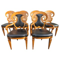 Stunning Set of Six William Doezema Biedermeier Dining Chairs for Mastercraft