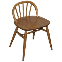 Stunning Small G Plan Ercol Blond Elm Wood Side Chair Dressing Table Stool