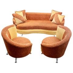 Stunning Sofa Set by František Jirák for Tatra Nábytok, 1970s