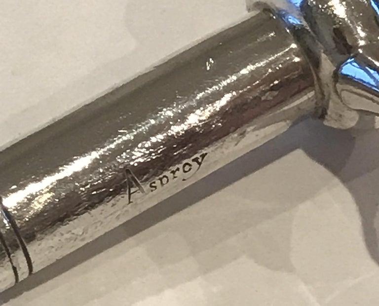 Stunning Solid Sterling Silver Asprey London 1994 Corkscrew Handmade in England For Sale 5