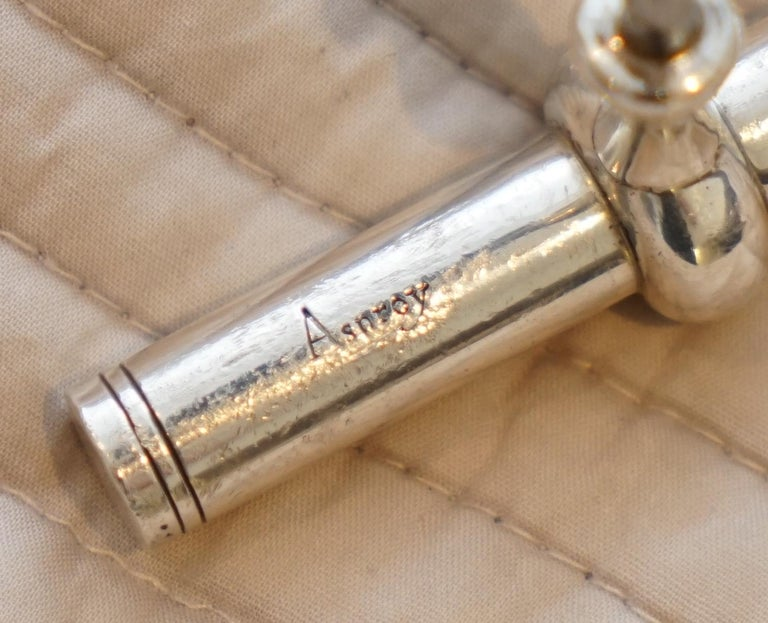 Hand-Crafted Stunning Solid Sterling Silver Asprey London 1994 Corkscrew Handmade in England For Sale