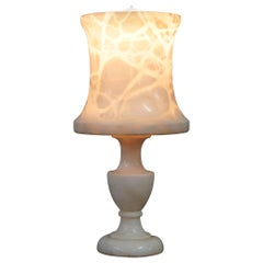 Stunning Solid Veined Marble Lamp Including Marble Shade, circa 1900 English