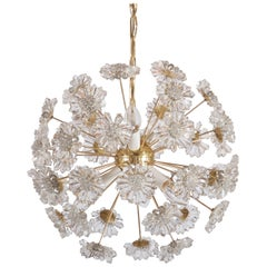 Stunning Sputnik Chandelier with Crystal Flowers