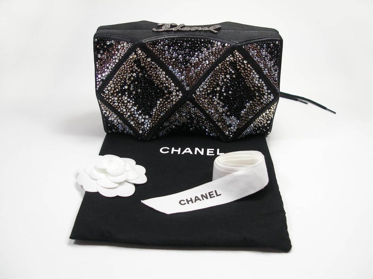Stunning Style Art Déco Chanel Minaudiére Clucth Crystals Sarovky  For Sale 5