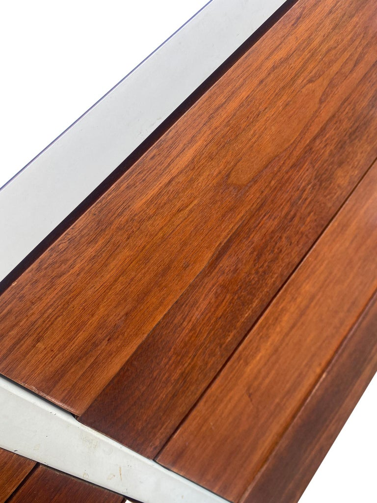 Stunning Swedish Mid-Century Modern 12 Drawer Dresser Credenza White Metal Legs For Sale 3