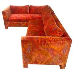 Stunning Two Piece Modernist Jack Lenor Larsen Sofa