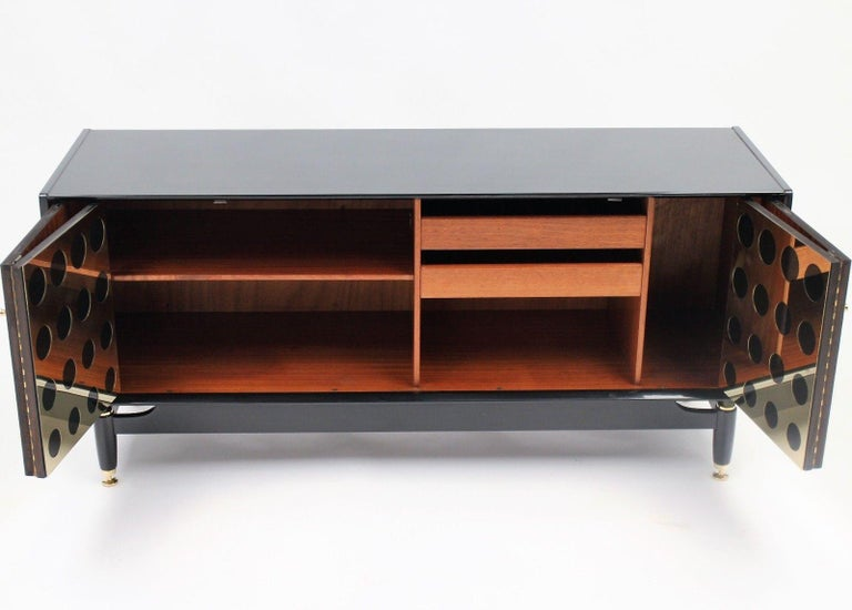 Stunning Upcycled G Plan Sideboard, Retro Credenza with Brass Detail Design For Sale 5