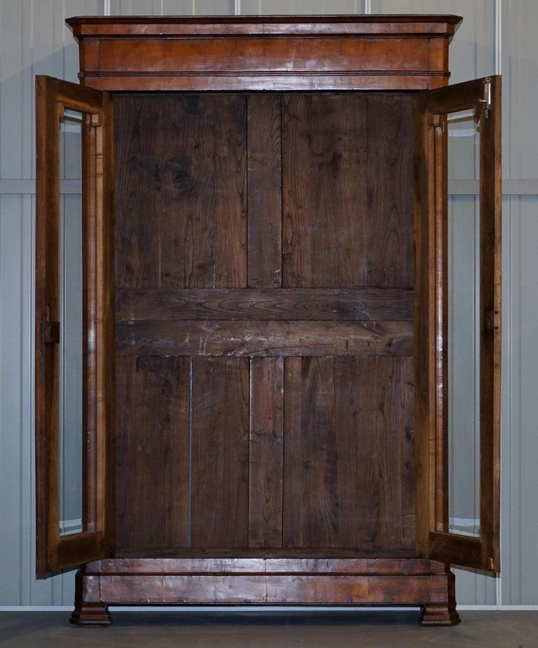 Grand Swedish Biedermeier Cherry Wood Armoire Wardrobe, circa 1880 For Sale 4
