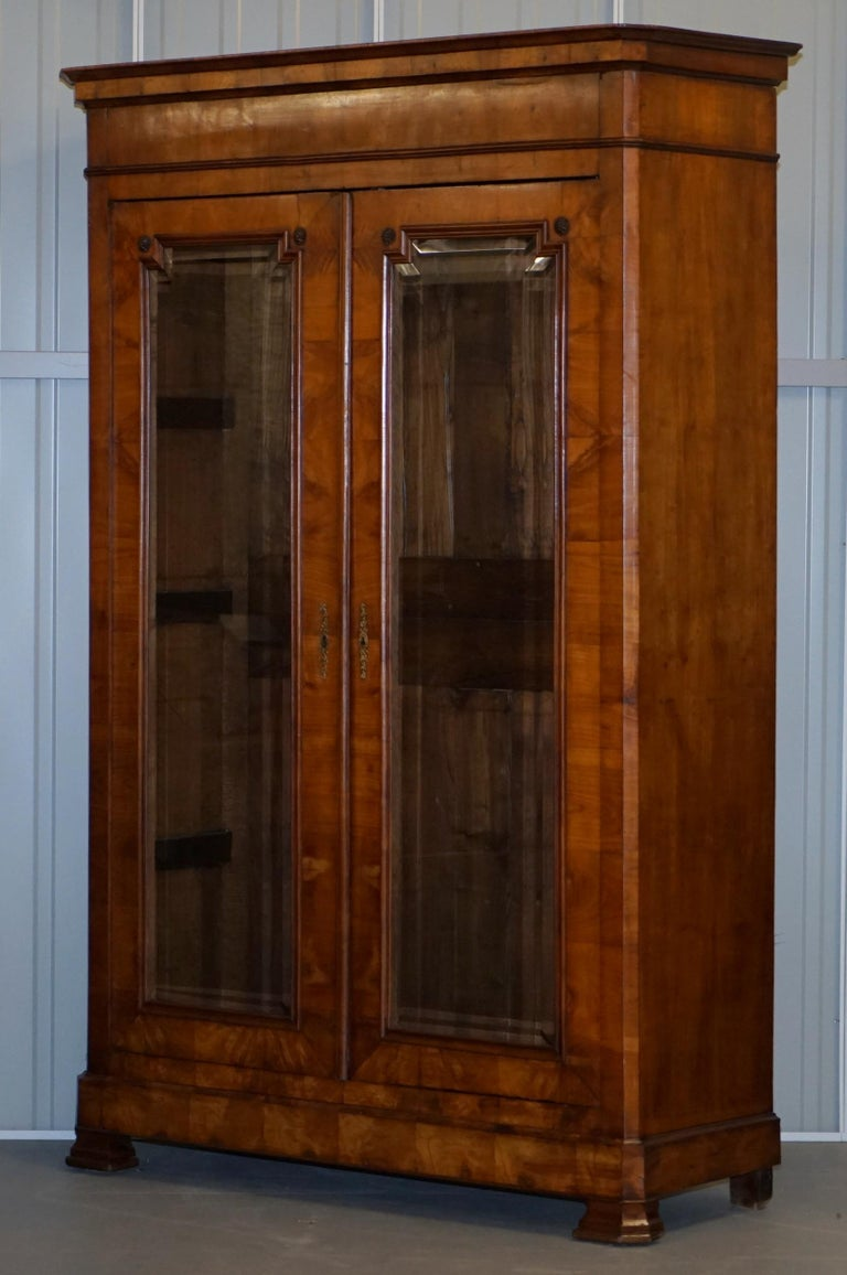 Wimbledon-Furniture  Wimbledon-Furniture is delighted to offer for sale this stunning original Swedish Biedermeier Cherrywood Armoire wardrobe with bevelled glazed doors  Please note the delivery fee listed is just a guide, it covers within the M25