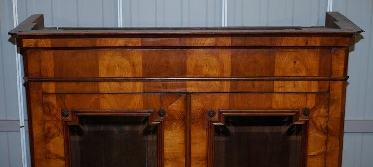 Grand Swedish Biedermeier Cherry Wood Armoire Wardrobe, circa 1880 In Fair Condition For Sale In London, GB