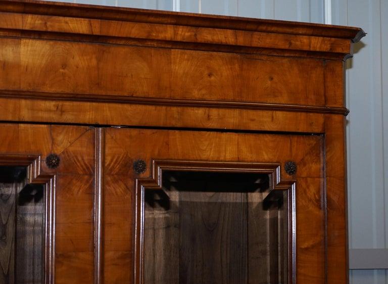 Late 19th Century Grand Swedish Biedermeier Cherry Wood Armoire Wardrobe, circa 1880 For Sale