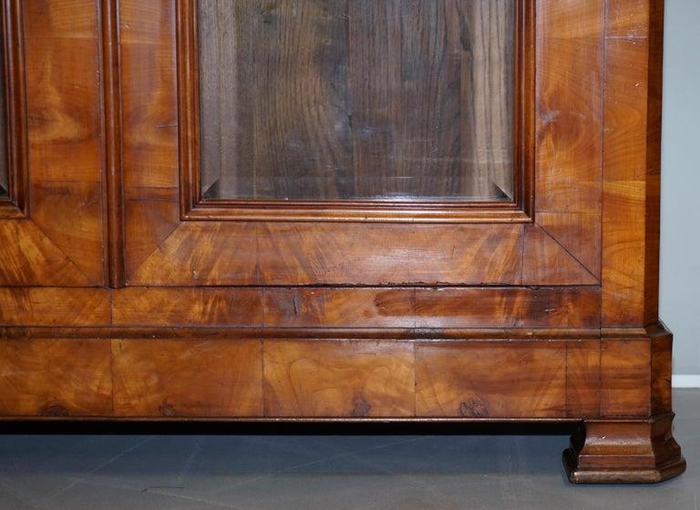Grand Swedish Biedermeier Cherry Wood Armoire Wardrobe, circa 1880 For Sale 2