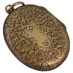 Stunning Victorian 15 Carat Gold Double Locket Pendant