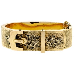 Stunning Victorian Buckle Motif Yellow Gold Buckle Bracelet