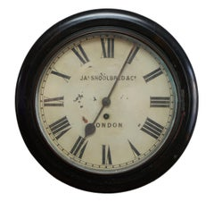 Stunning Victorian Ebonised Jas Shoolbred & Co London Wall Clock Original Finish