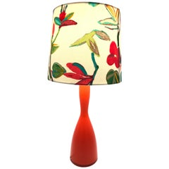 Stunning Vintage Table Lamp from the 1960s Made by Kastrup Glass Denmark
