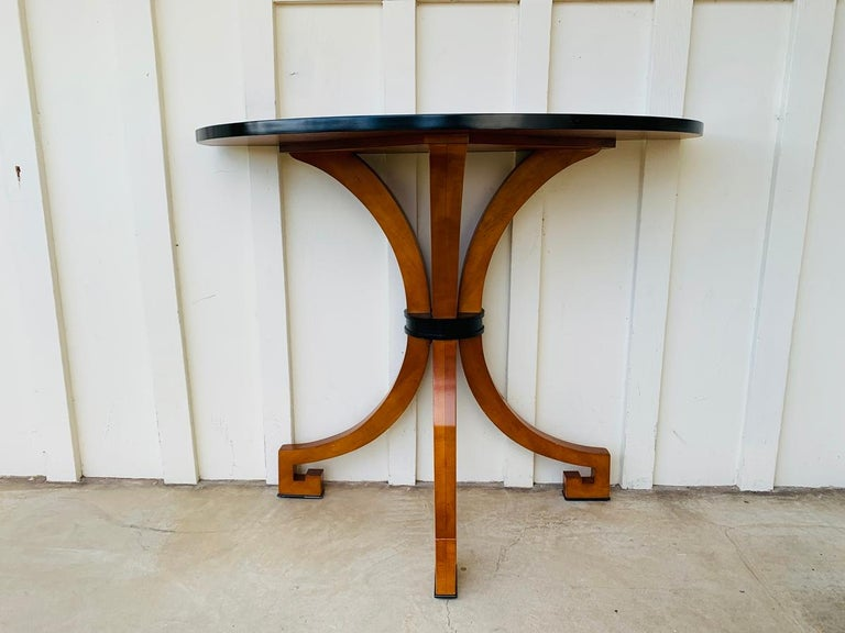 Stunning Wall Console W-Sunburst Top and Greek Key Legs For Sale 12