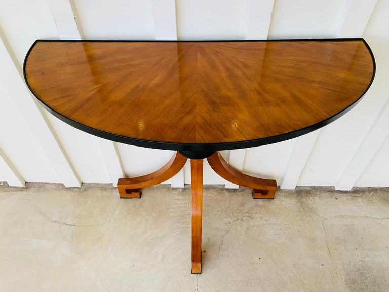 Stunning Wall Console W-Sunburst Top and Greek Key Legs In Good Condition For Sale In Los Angeles, CA