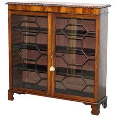 Stunning William IV Mahogany Astral Glazed Bookcase S&H Jewell Holborn London