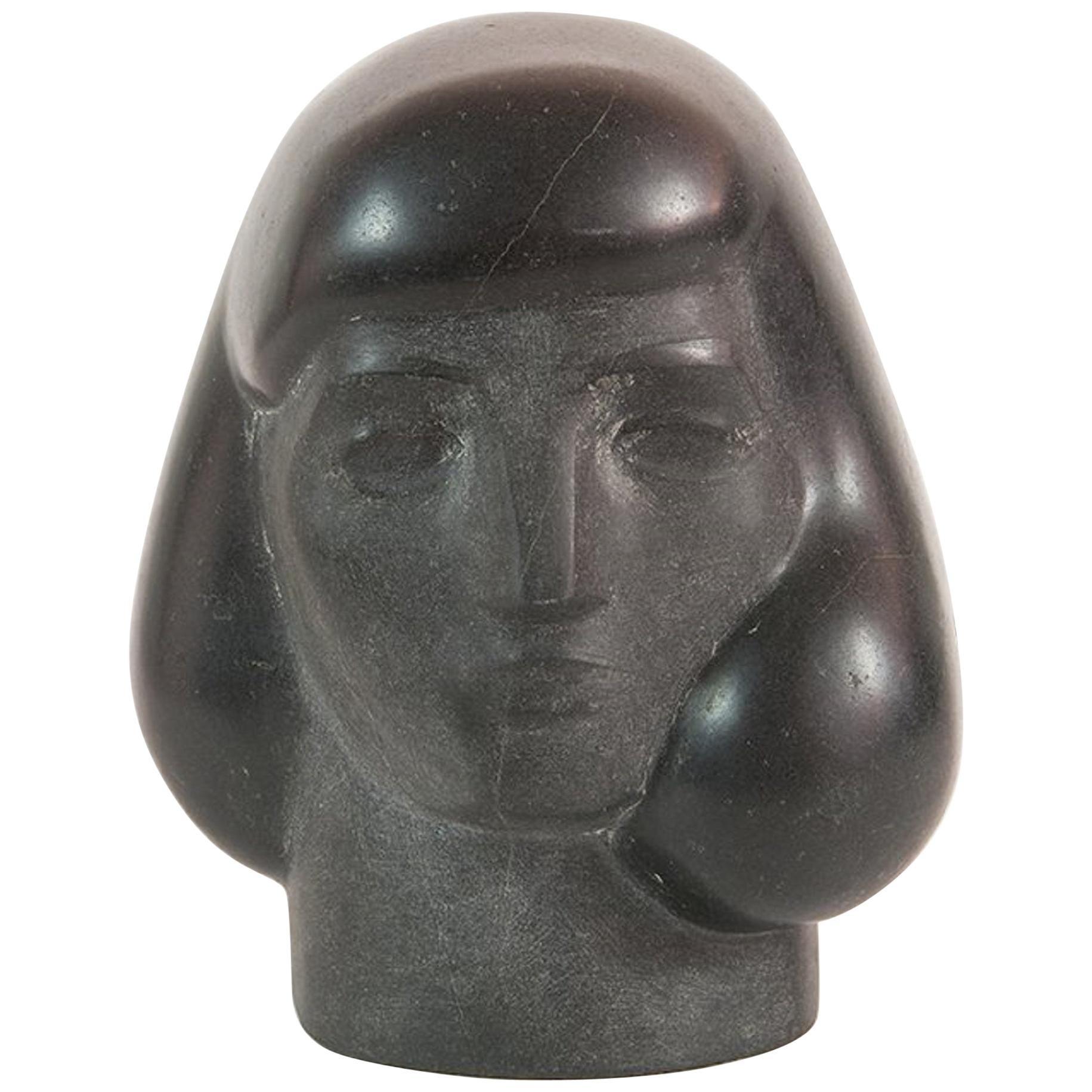 """Stunning """"Woman's Head"""" Sculpture by Walter Dreisbach"""