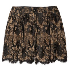 NEW Emilio Pucci Black & Nude Lace Silk Shorts Hot Pants