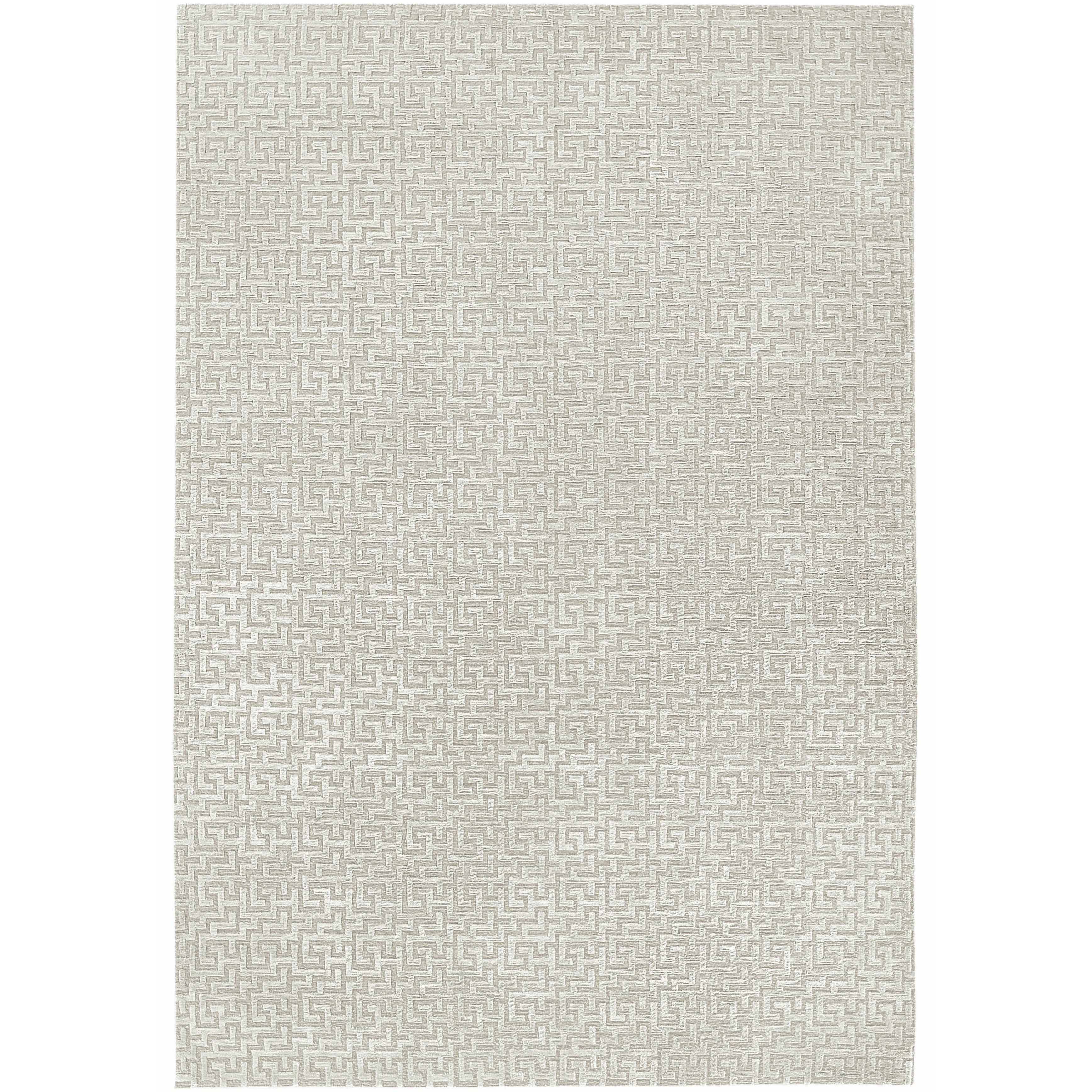 Stupa Silver Hand-Knotted 10x8 Rug in Wool and Silk by Suzanne Sharp
