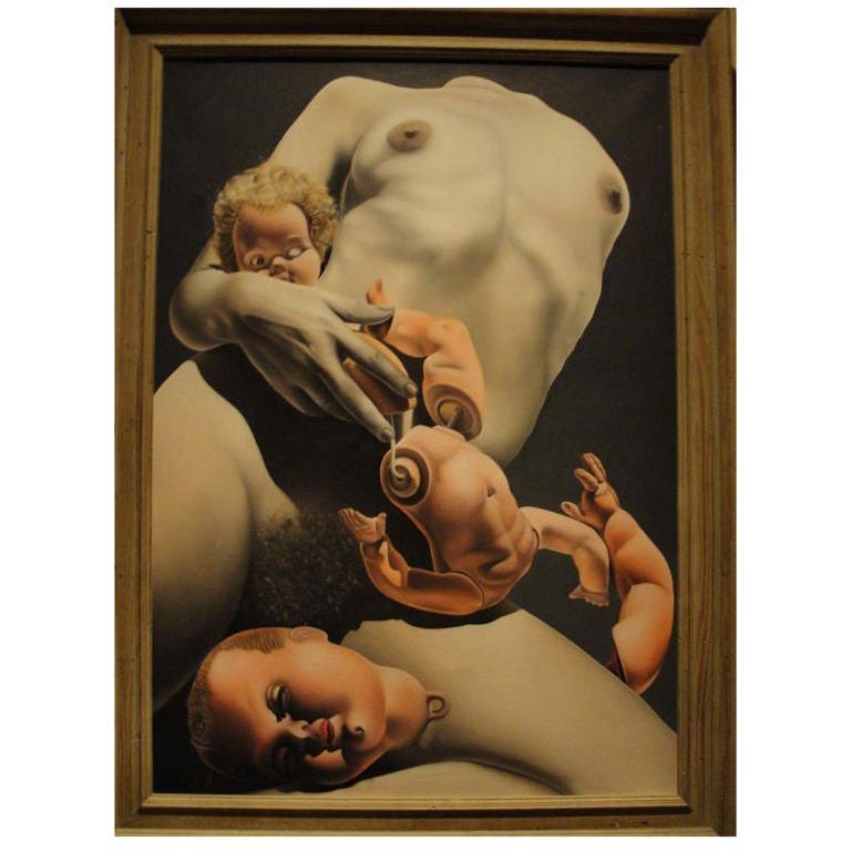 Stupendous Realist Oil on Canvas For Sale