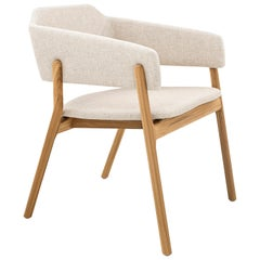 Stuzi Chair in Teak with Oatmeal Fabric