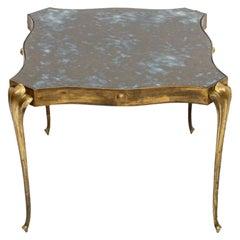 Style Arturo Pani Elegant Side Table in Brass Modern Regency Mexico, 1950s