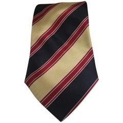 Style beige red blue multicoloured silk tie