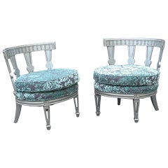 Style of Billy Haines Pair of Club Chairs