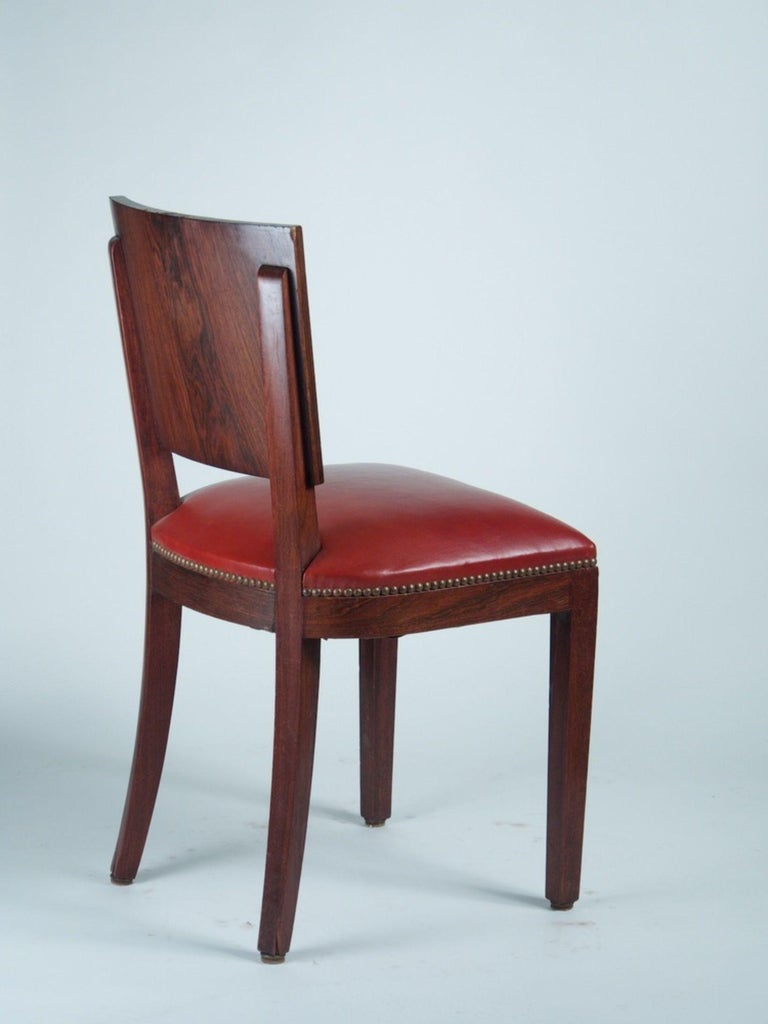 Art Deco Style of DIM 'Joubert et Petit' Set of 6 Dining Chairs