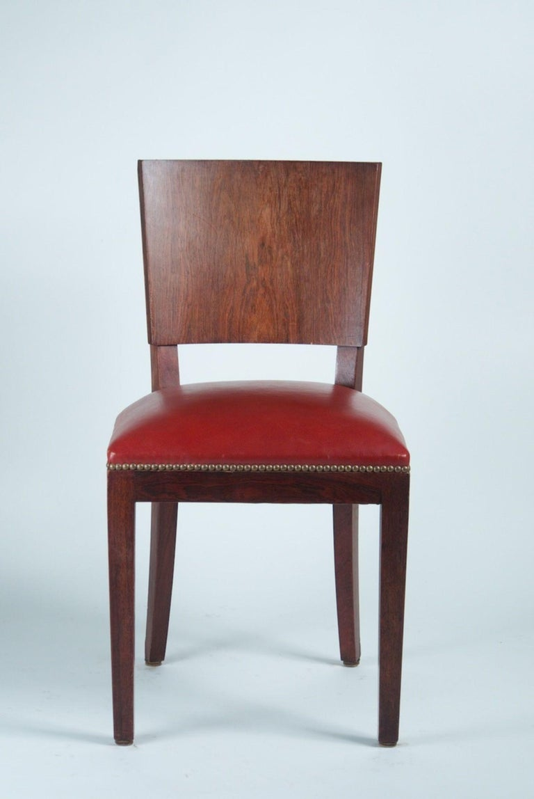 French Style of DIM 'Joubert et Petit' Set of 6 Dining Chairs