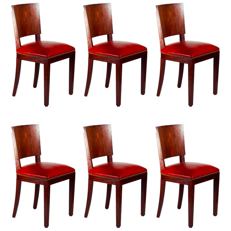Style of DIM 'Joubert et Petit' Set of 6 Dining Chairs