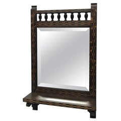 Style of M H Baillie Scott an Arts & Crafts Oak Mirror with Chequer Inlays