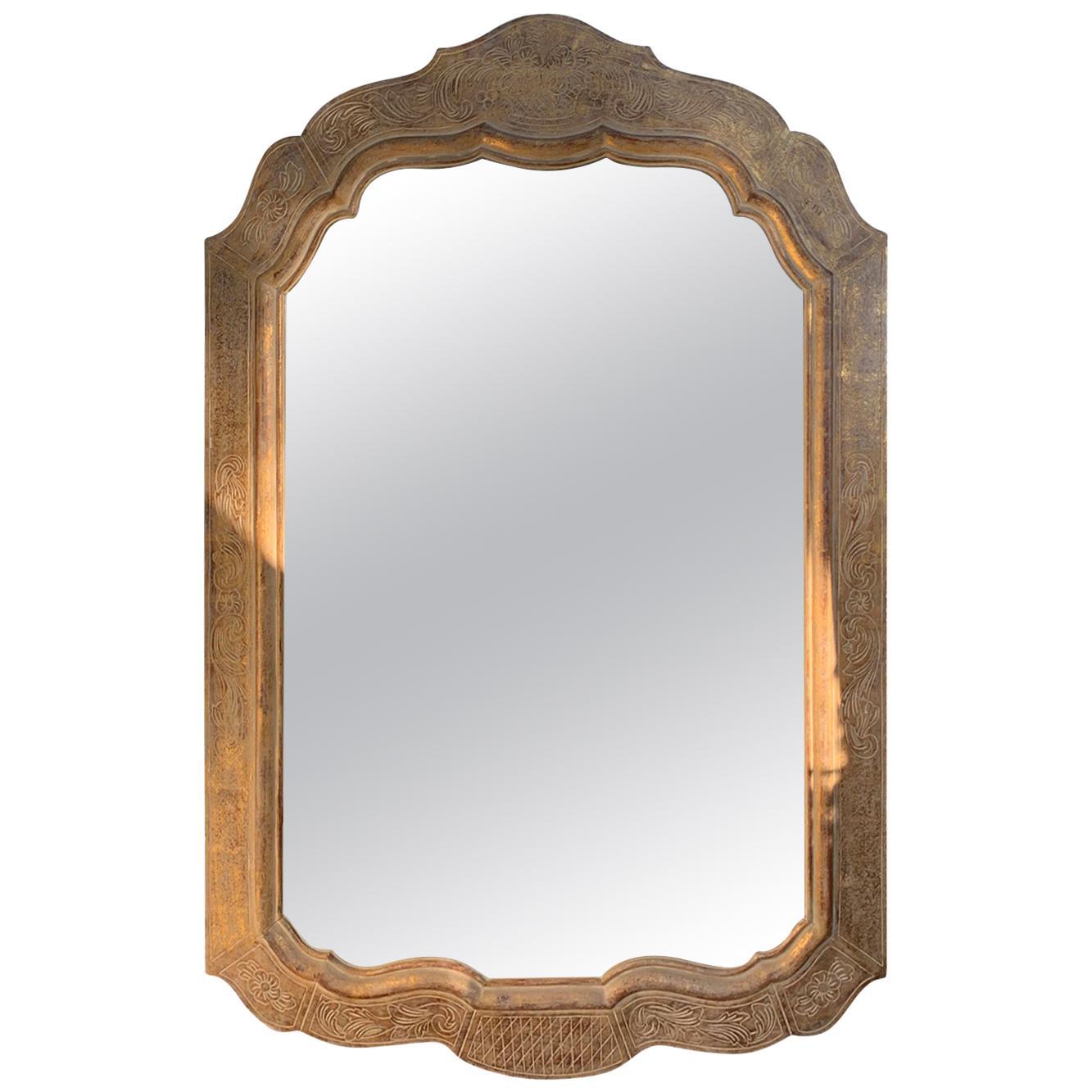 Style of Max Kuehne circa 1930s Giltwood Wall Mirror