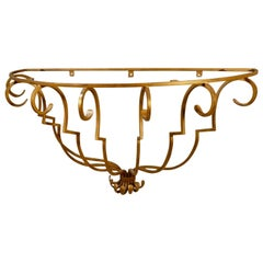 Style of Raymond Subes Gilt Iron Console